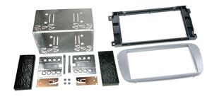 Radio ramme 451-381114-19-2 2DIN Ford Mondeo, Focus, S-Max Sølv