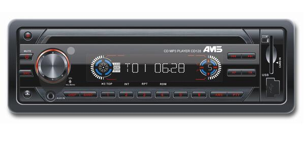 AMS CD128 RDS CD-tuner USB + SD iPod kontrol